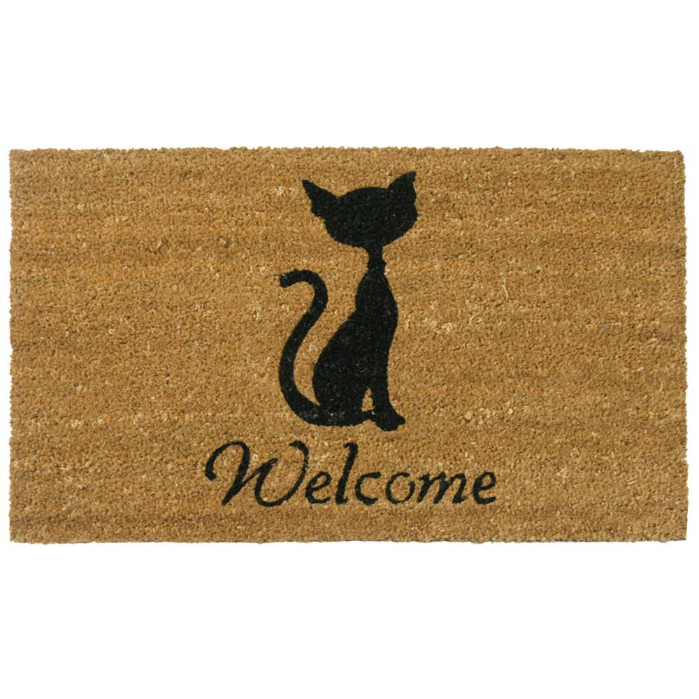 Rubber Cal Meow Cat 18 In X 30 In Welcome Mat 10 106 064