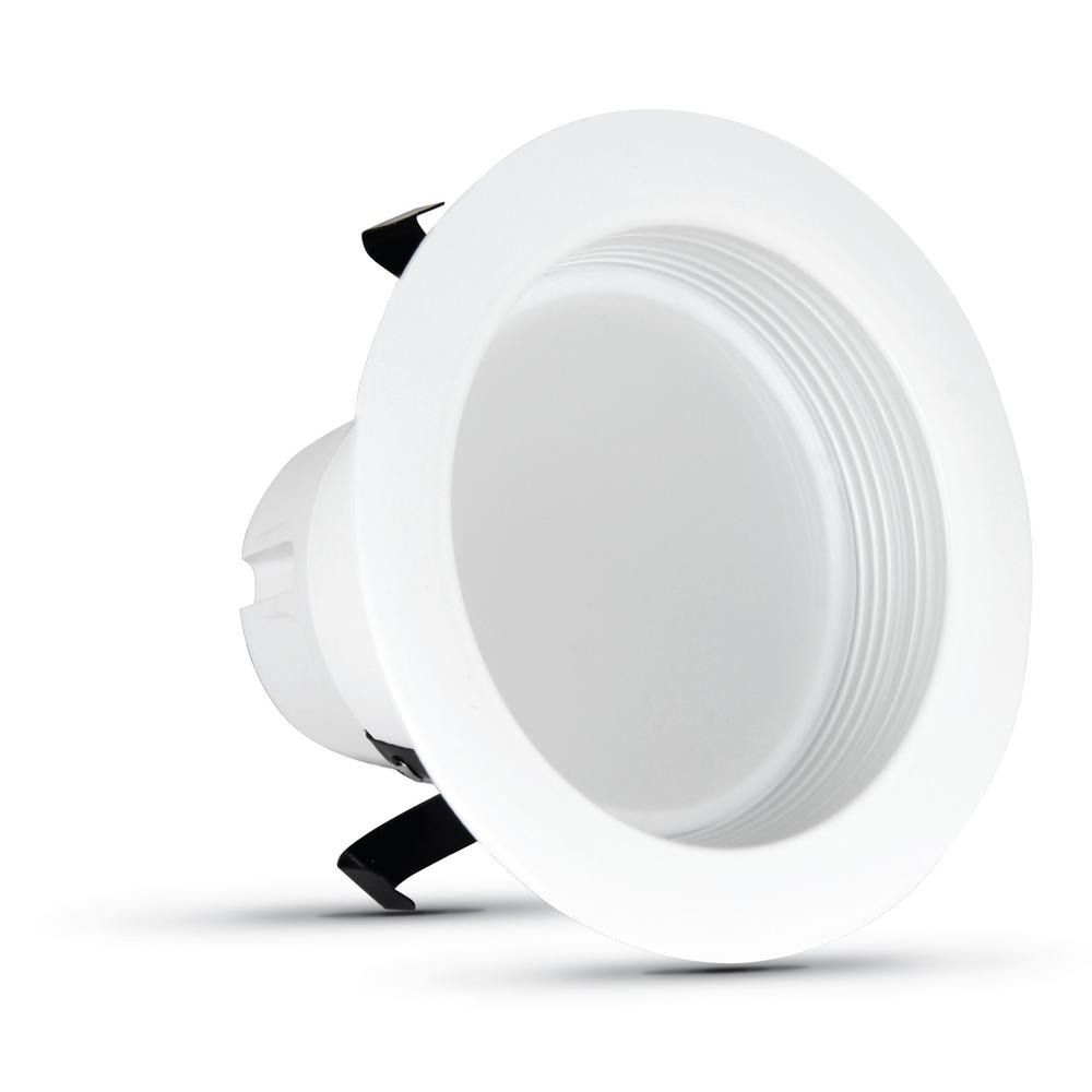 4 in. 50-Watt Equivalent Daylight Dimmable CEC White Integrated LED Recessed