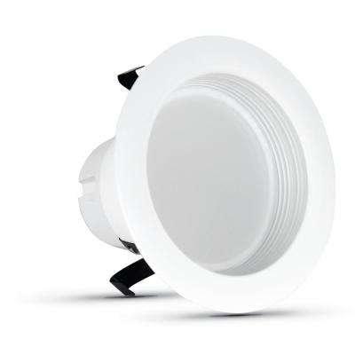 4 in. 50-Watt Equivalent Daylight Dimmable CEC White Integrated LED Recessed Retrofit Trim Downlight (6-Pack)