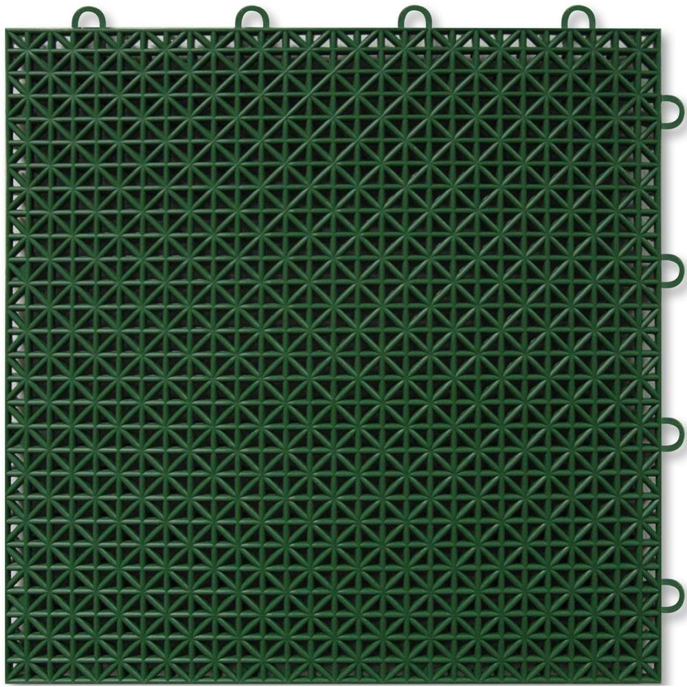 TopDeck Green Polypropylene 1ft. x 1ft. Deck Tile (40 - Case)