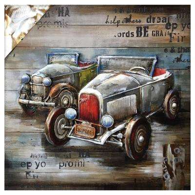 """Vintage Car Show"" by Unknown Artist Wood Wall Art"