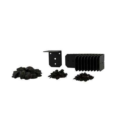 Ironwood 2.95 in. x 3.68 in. Black Galvanized Steel Rafter Connector (10 per Box)