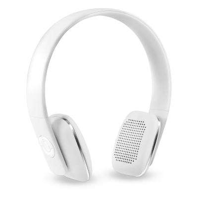 Rechargeable Wireless Bluetooth Headphones with Rubberized Finish in White