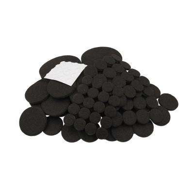 Variety Pack Brown Felt Bumpers and Sliders (108-Piece)