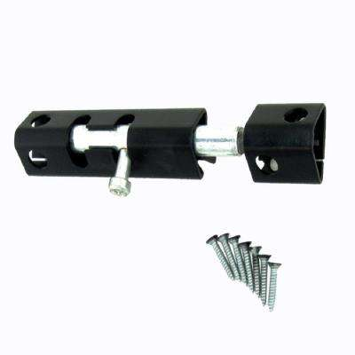 6 in. Black Heavy Metal Security Bolt