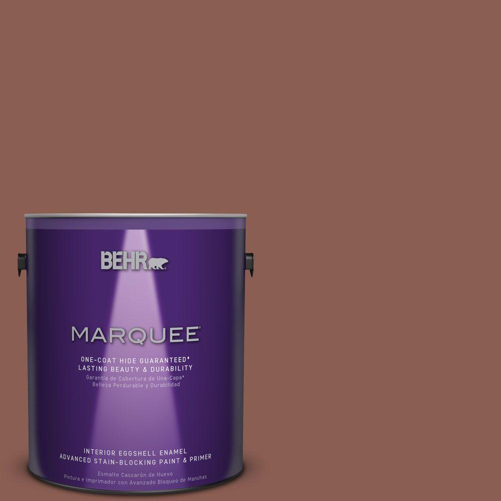 1 gal. #S170-6 Red Curry One-Coat Hide Eggshell Enamel Interior Paint