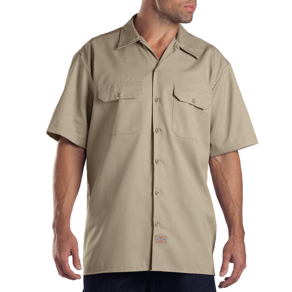 5ba11c4f896 Dickies Men s 3X Tall Long Sleeve Work Shirt-574KH - The Home Depot
