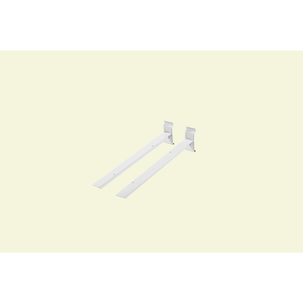 WallTech 15.2 in. L White Shelf Bracket for Wire Shelving (2-Pack)