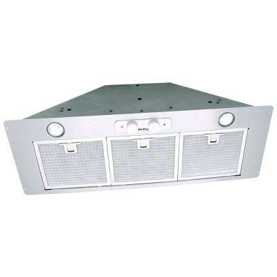 28 in. Insert Ducted Range Hood Power Pack with Light in Stainless Steel