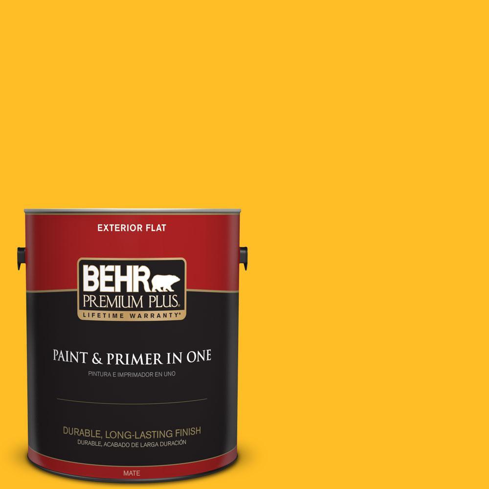 BEHR Premium Plus 1-gal. #320B-7 Macaw Flat Exterior Paint