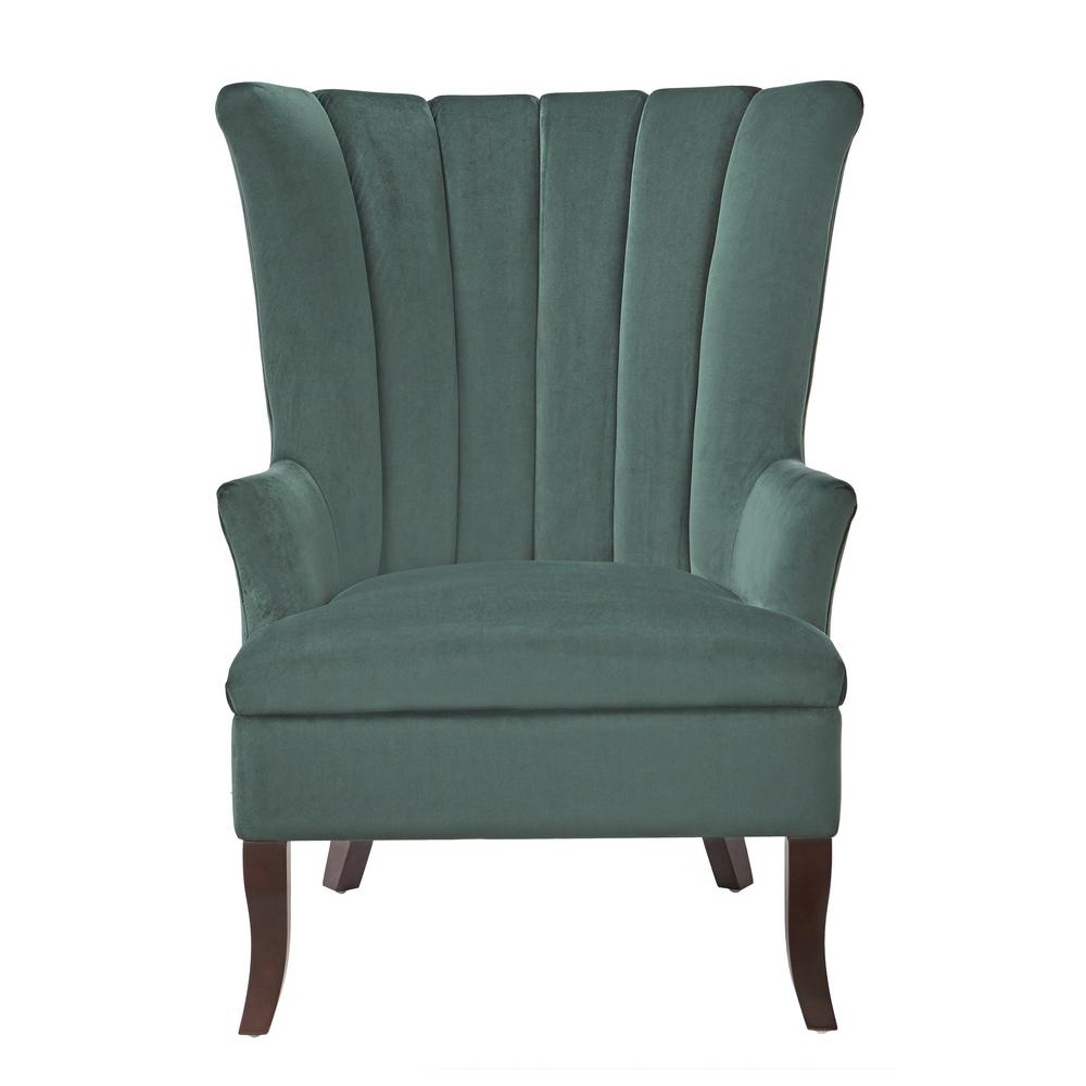 Charmant Home Decorators Collection Carlotta Emerald Velvet Club Chair