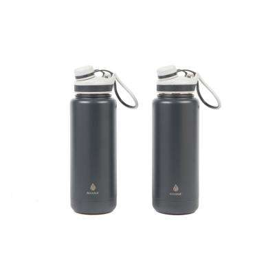 Ranger Pro 40 oz. Gray Slate Stainless Steel Vacuum Bottle (2-Pack)