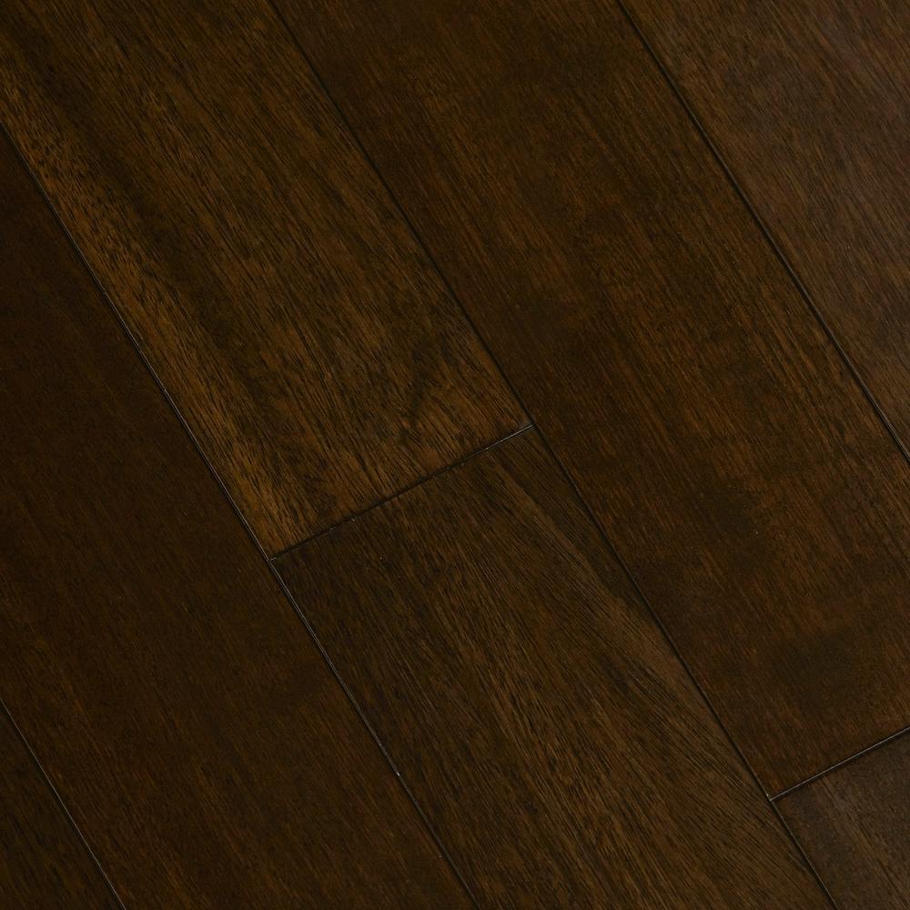 Jatoba Walnut Graphite 3/8 in. T x 5 in. W x Varying Length Click Lock Exotic Hardwood Flooring (26.25 sq. ft. /Case)