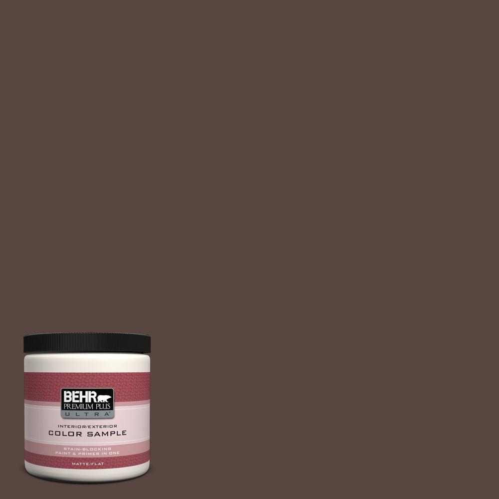 BEHR Premium Plus Ultra 8 oz. #PMD-91 Iced Espresso Interior/Exterior Paint Sample