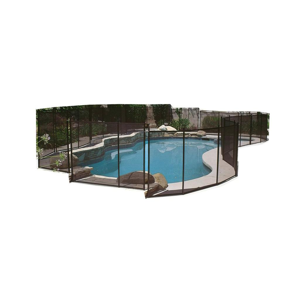 GLI Pool Products 4 ft. x 12 ft. Safety Fence for In-Ground Pools ...