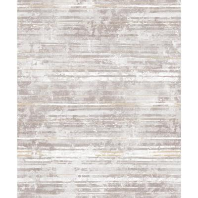 Makayla Mauve Distressed Stripe Wallpaper Sample