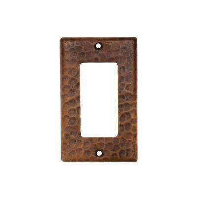 1 Gang Hammered Copper Ground Fault/Rocker GFI Switch Plate, Oil Rubbed Bronze (Quantity 2)