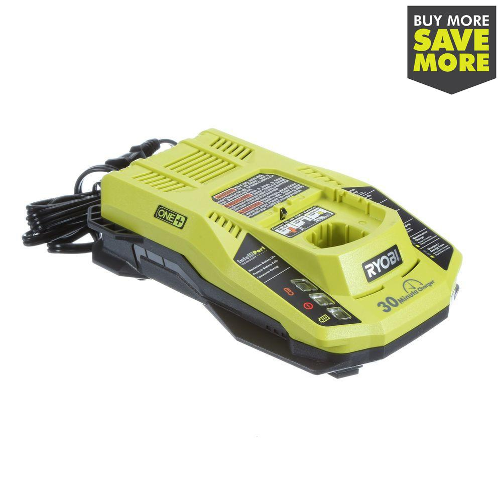 Ryobi 18 Volt One Dual Chemistry Intelliport Charger P117 The Home Depot