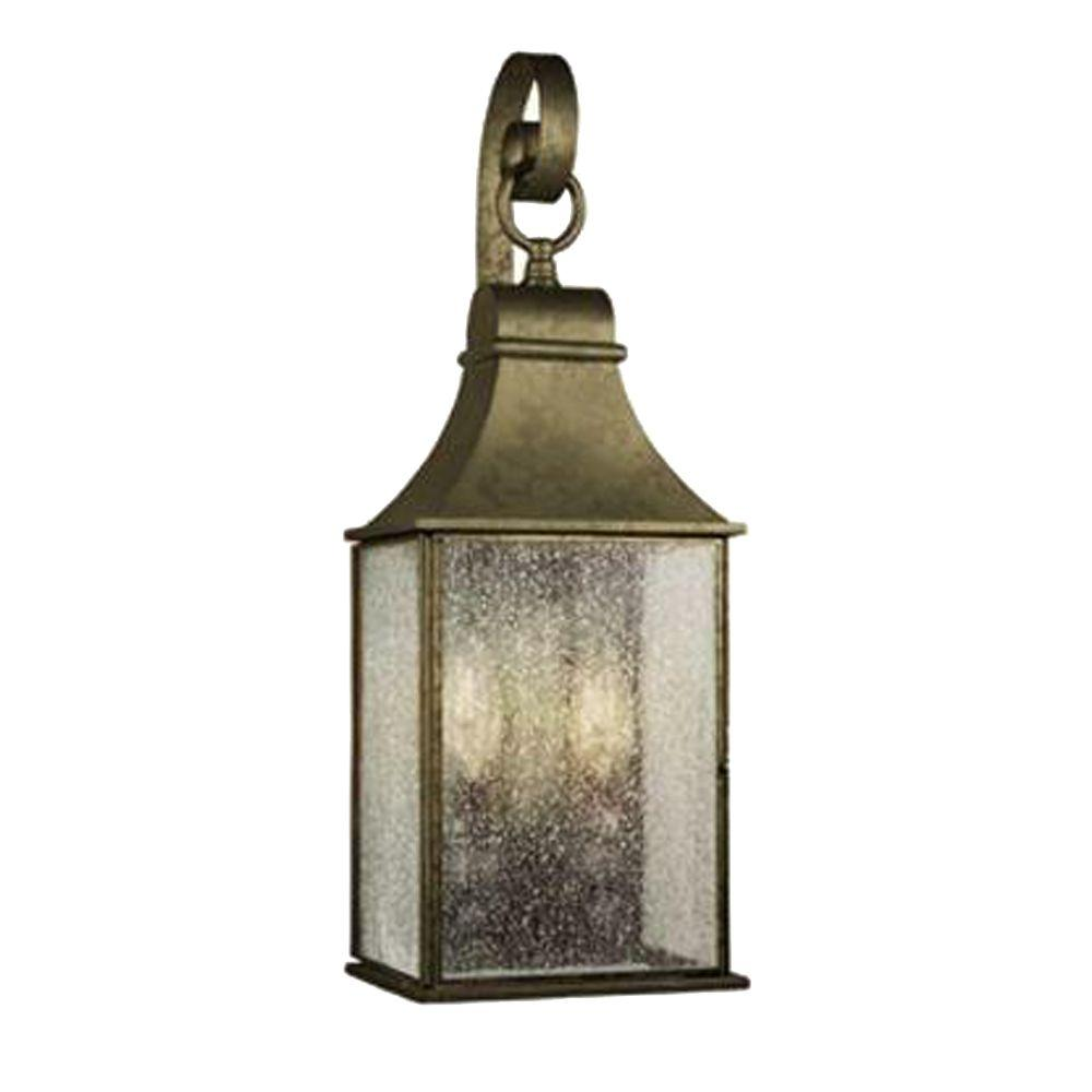 World Imports Revere Collection 2 Light Flemish Outdoor Wall Mount Lantern WI6130806