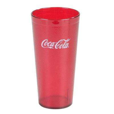 3.63 in. Diameter, 7.18 in. H, 24 oz. SAN Plastic Coca Cola Imprint Tumbler in Ruby (Case of 72)