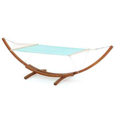 Richardson 13.68 ft. Free-Standing Hammock in Aqua Blue