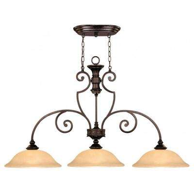 Medlock 3-Light Antique Copper Island Light