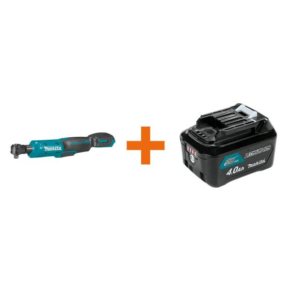 12-Volt MAX CXT Lithium-Ion Cordless 3/8 in./1/4 in. Sq. Drive Ratchet with bonus 12-Volt MAX CXT Battery Pack 4.0Ah