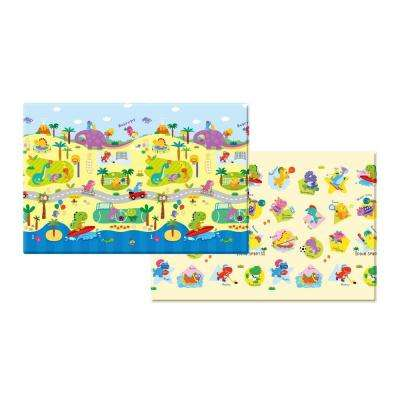 Baybycare 7 ft. x 5 ft. Dino Sports Play Mat