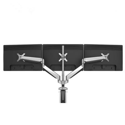 Premier Triple-Arm Gas Spring Desk Monitor Mount LCD Arm Fits 10 in. - 24 in. Monitors