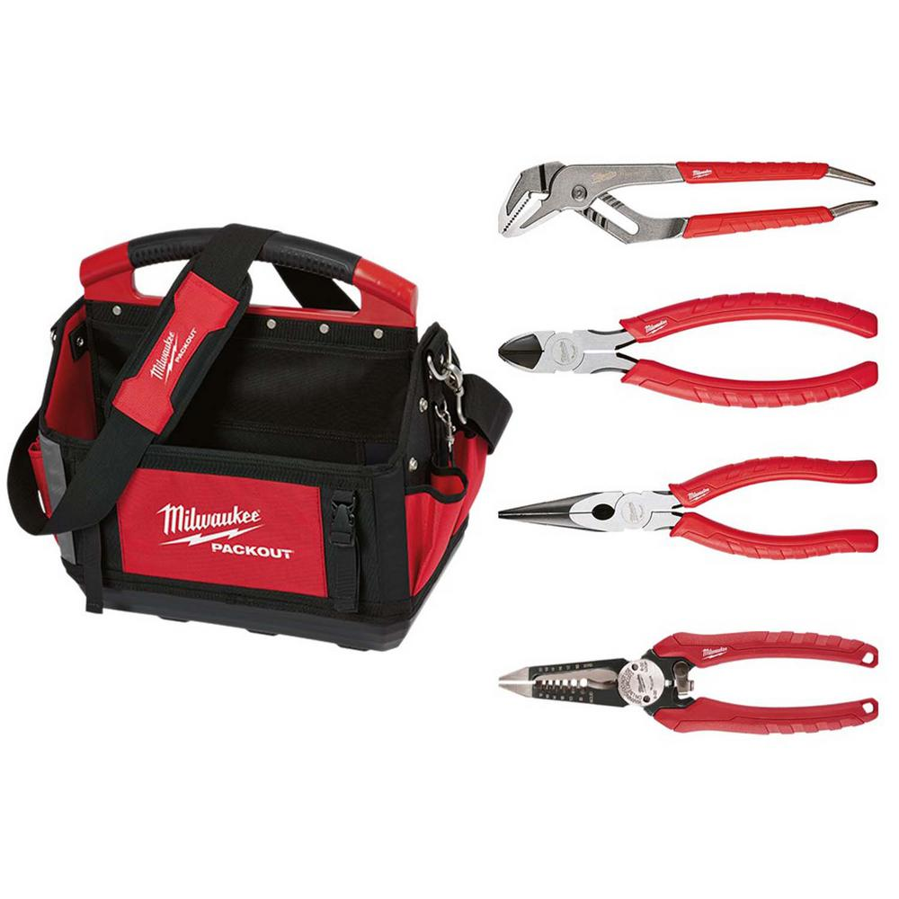Milwaukee PACKOUT Tote w/ Pliers Set (4-Piece)