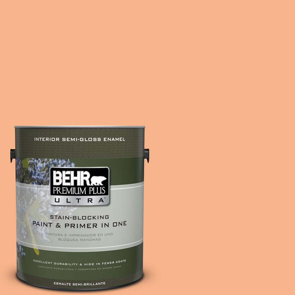 BEHR Premium Plus Ultra 1-gal. #250D-4 Autumn Mist Semi-Gloss Enamel Interior Paint