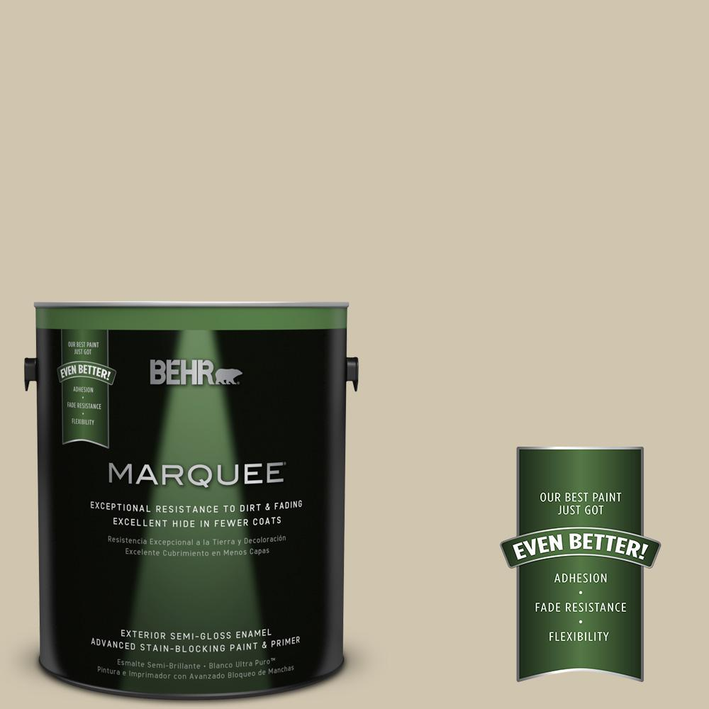 BEHR MARQUEE Home Decorators Collection 1-gal. #HDC-NT-18 Yuma Sand Semi-Gloss Enamel Exterior Paint