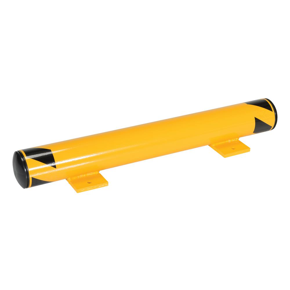 36 in. Yellow Steel Floor Stop Bollard