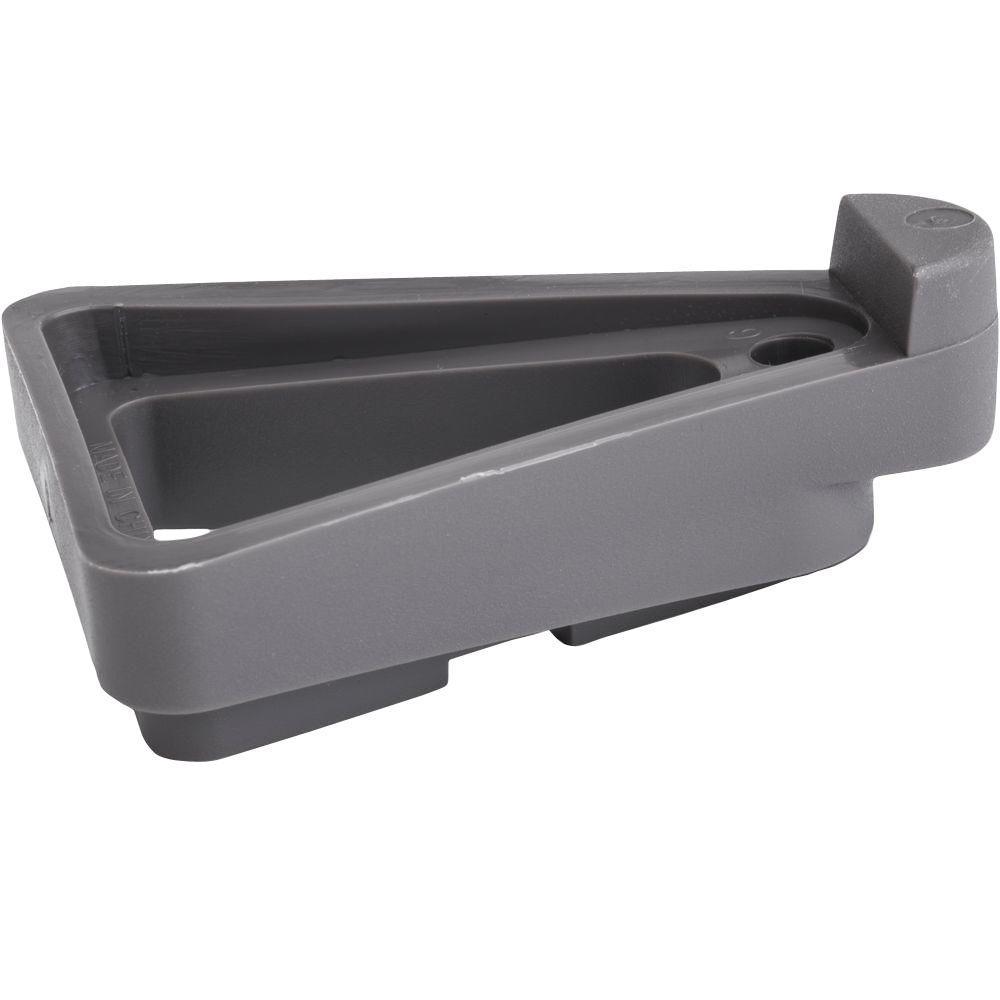 2.25 in. x 5 in. Dark Gray Plastic Pot Toes (6-Pack)