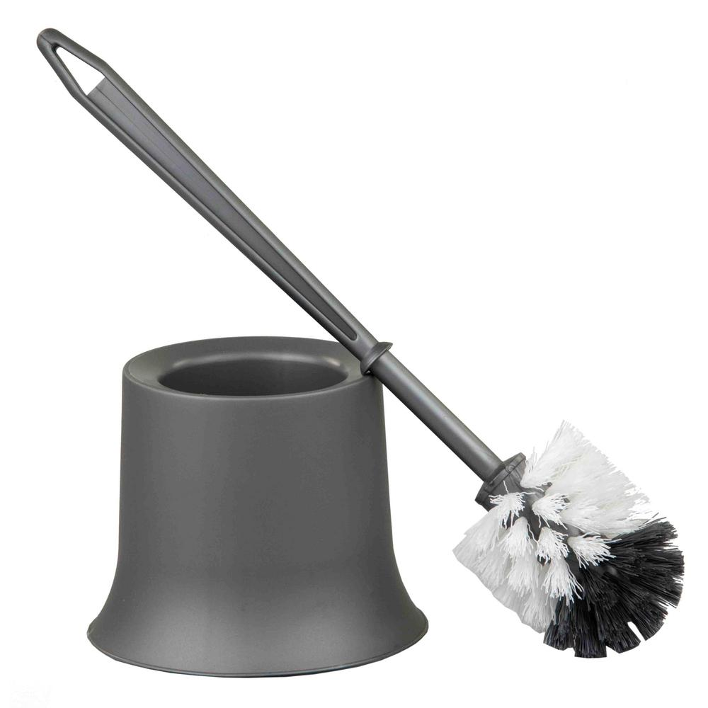 home basics 10 5 in plastic toilet brush tb45051 the home depot. Black Bedroom Furniture Sets. Home Design Ideas