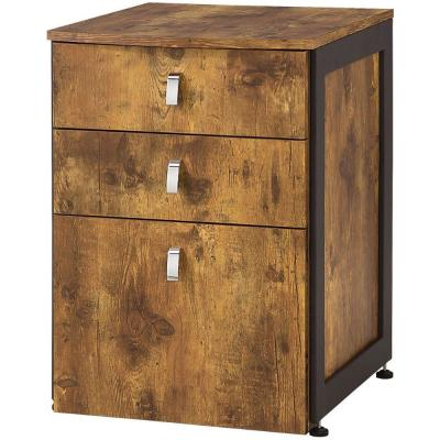Antique Natural File Cabinet with 3 Drawers