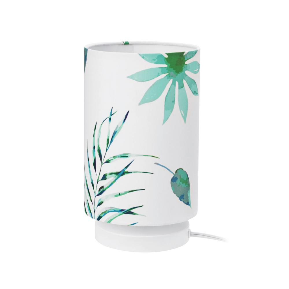 Novogratz x Globe Electric Lola 10 in. Palm Leaves Table Lamp with Fabric Shade