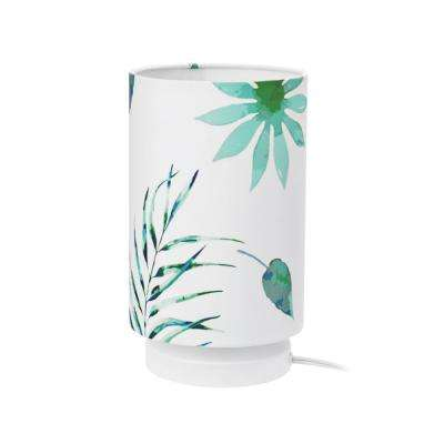 Lola 10 in. Palm Leaves Table Lamp with Fabric Shade