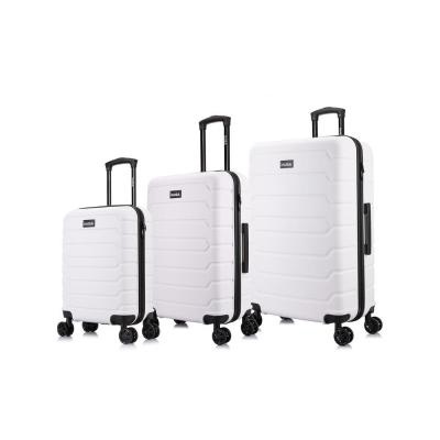 Trend 20 in./24 in./28 in. White Lightweight Hardside Spinner 3-Piece Set