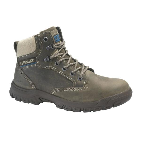 Cat Footwear Women S Hiker Work Boots Steel Toe Dark Gull Grey Size 5 W P91008 The Home Depot