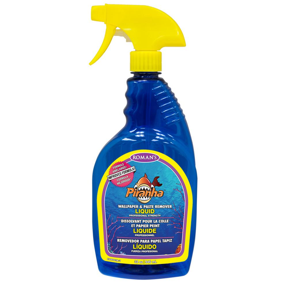 Roman Piranha 32 oz. Ready to Use Liquid Wallpaper Remover with Sprayer