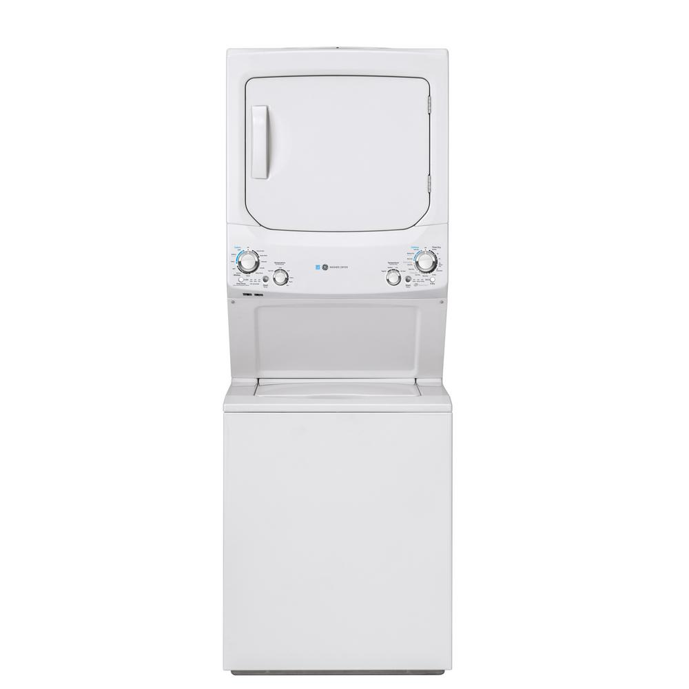 GE White Laundry Center with 3.9 cu. ft. Washer and 5.9 cu. ft. 240 Volt Vented Electric Dryer, ENERGY STAR