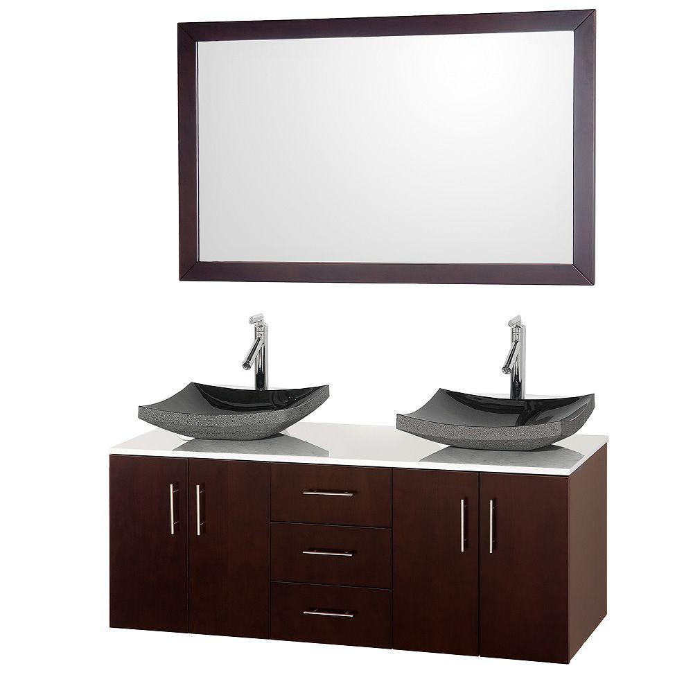 Wyndham Collection Arrano 55 In Double Vanity In Espresso