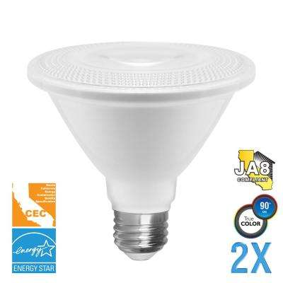 75-Watt Equivalent PAR30 Dimmable Short Neck LED Light Bulb (2-Pack)