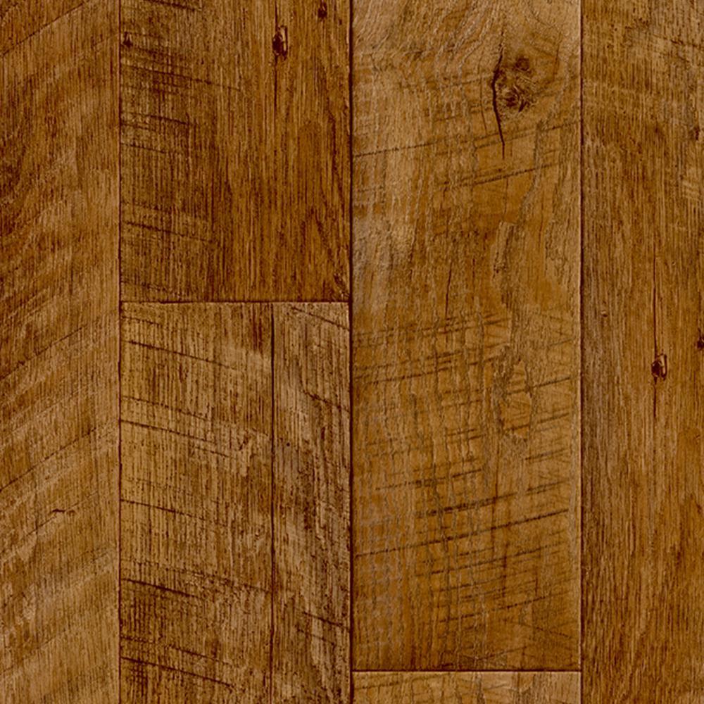 Take Home Sample - Sawcut Plank Natural Vinyl Sheet - 6 in. x 9 in.
