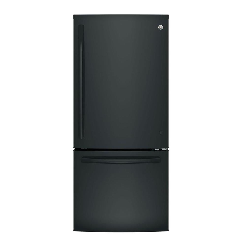 21 cu. ft. Bottom Freezer Refrigerator in Black, ENERGY STAR