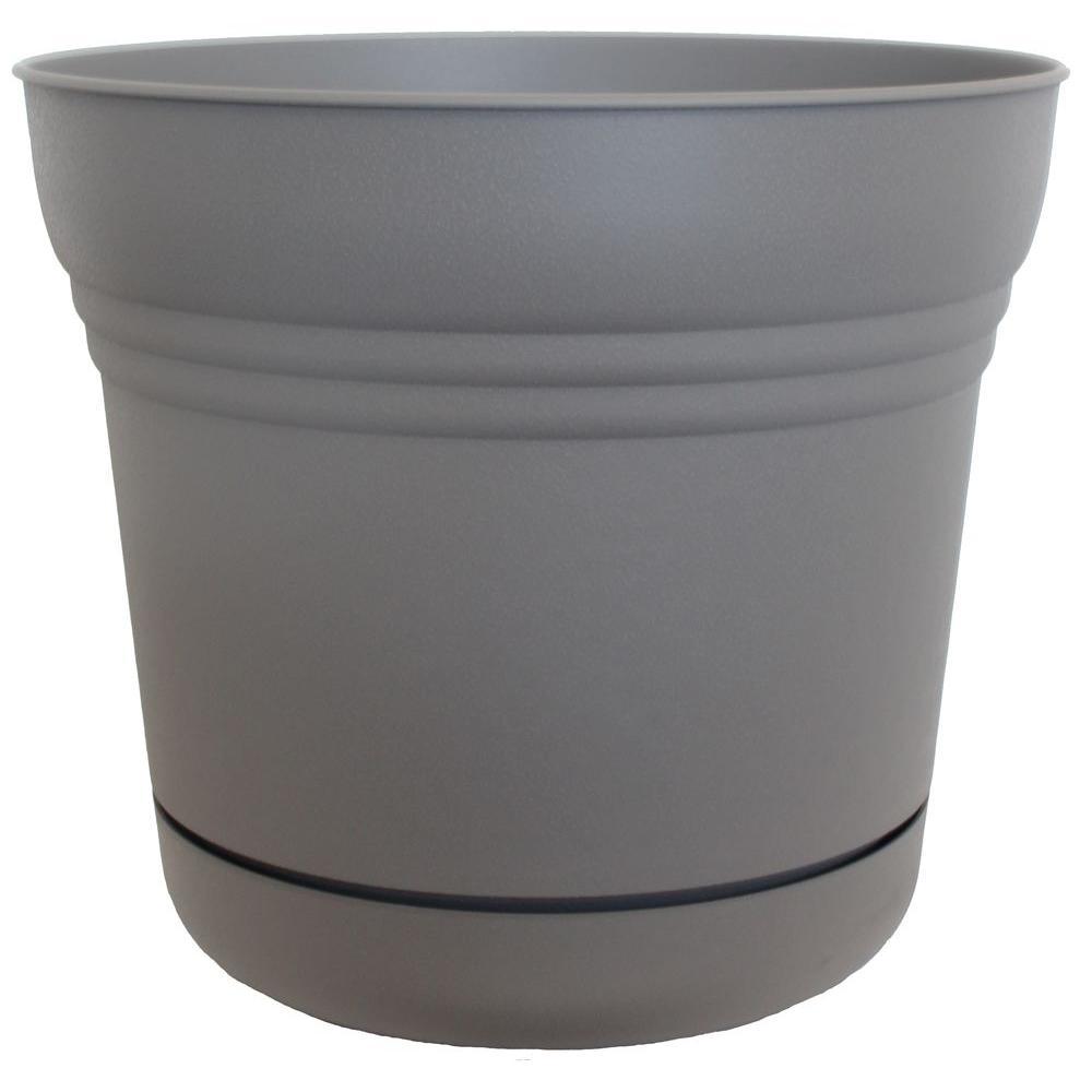 12 in. Plastic Saturn Peppercorn Planter