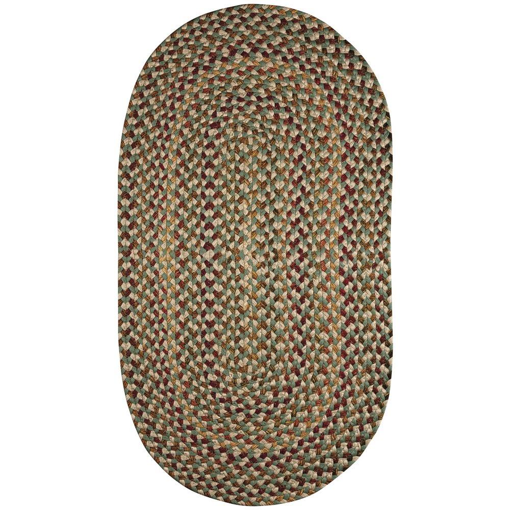 Jamerson Green 4 ft. x 6 ft. Braided Oval Area Rug