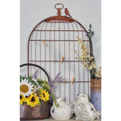 Iron Black Birdhouse Wall Photo Holder Metal Work