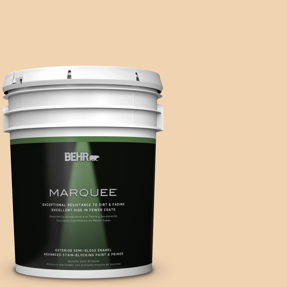 5-gal. #M280-3 Champagne Wishes Semi-Gloss Enamel Exterior Paint
